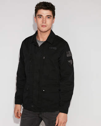 Express Cotton Patch Shirt Jacket