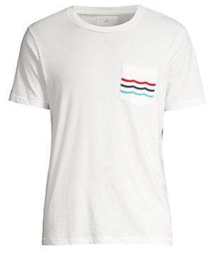 Sol Angeles Men's Regular-Fit Americana Waves Pocket Tee