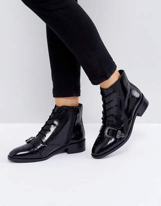 Adina Asos Design ASOS Leather Lace Up Boots