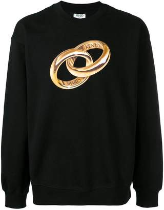 Kenzo logo wedding ring sweatshirt
