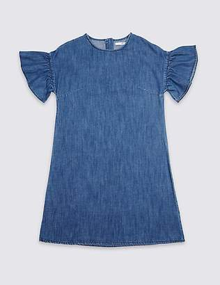 Marks and Spencer Denim Flared Sleeve Dress (3-16 Years)