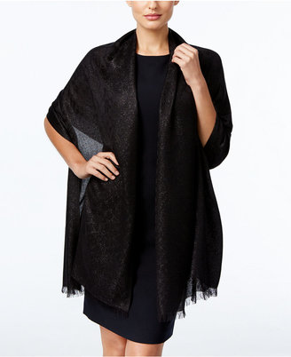 INC International Concepts Animal Print Metallic Wrap, Only at Macy's $38.50 thestylecure.com