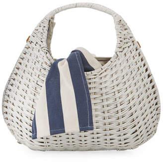 Rafe Sam Pear-Shaped Wicker Tote Bag