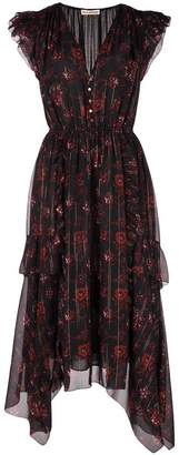 Ulla Johnson floral print asymmetric dress