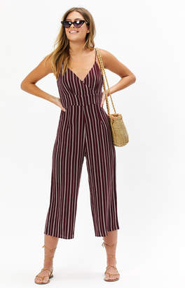 La Hearts Striped Bodice Jumpsuit