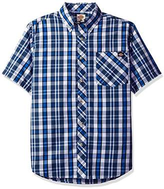 Dickies Men's Short Sleeve Wrinkle Resistant Single Pocket Plaid Shirt