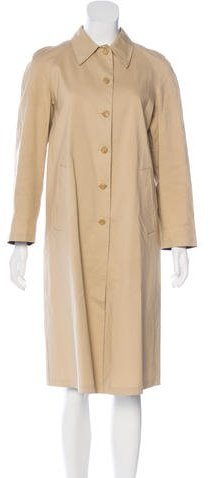 prada Prada Long Button-Up Coat