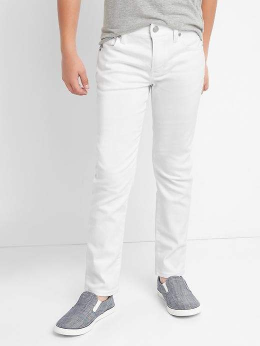 High stretch stain resistant slim jeans