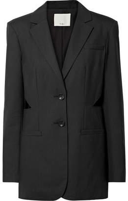 Tibi Oversized Cutout Wool Blazer - Black
