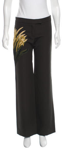 Chloé Chloé Embroidered Flared Pants