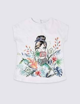 Marks and Spencer Easy Dressing Girl T-Shirt (3-16 Years)