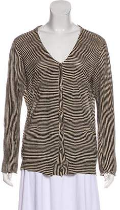 Marni Striped Button-Up Cardigan