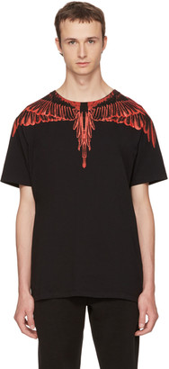 Marcelo Burlon County of Milan Black Saquin T-Shirt $240 thestylecure.com