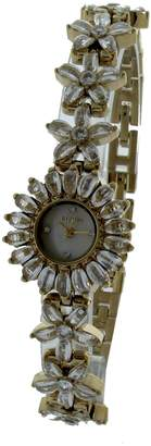 Elgin Women's Crystal Accent Gold-Tone Flower Watch EG721