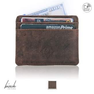 Birch Leathers Slim wallet rfid front pocket minimalist rfid blocking dual side