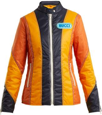 Spiritismo-appliqué long-sleeve jacket