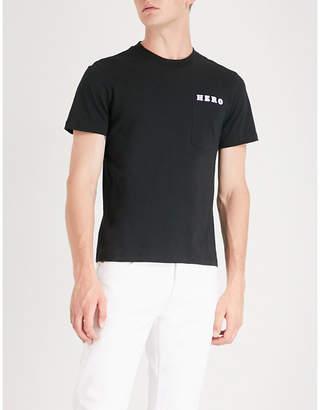 Sandro Hero-print cotton-pique T-shirt