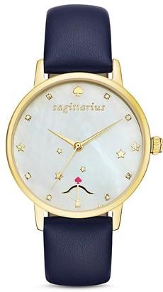 kate spade new york Sagittarius Metro Leather Strap Watch, 34mm $195 thestylecure.com