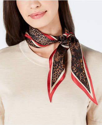Vince Camuto Leopard-Party Silk Kite Scarf