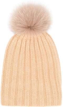 Danielapi pom-pom ribbed knit hat