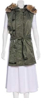3.1 Phillip Lim Fur-Trimmed Hooded Vest