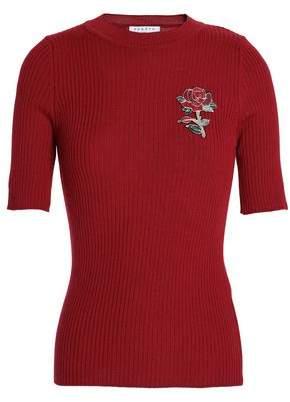 Sandro Appliquéd Wool-Blend Sweater