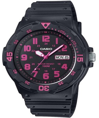 Casio Men's Dive Style Watch, Black/Pink