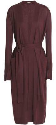 Halston Belted Silk And Cashmere-Blend Cardigan