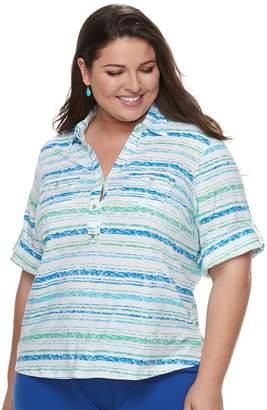 Plus Size Cathy Daniels Stripe Top