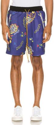 Rhude Bandana BBall Shorts in Blue | FWRD