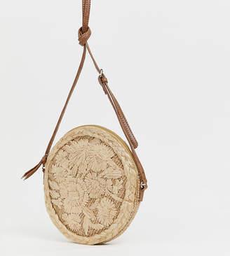 Accessorize Mia circle straw cross body bag