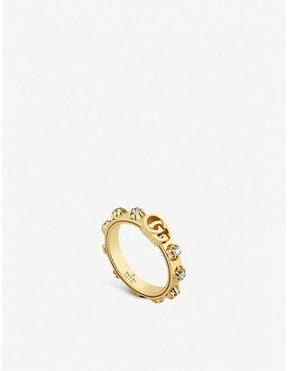 d4a3fb997d5 Gucci GG Running 18ct yellow-gold and white diamond ring