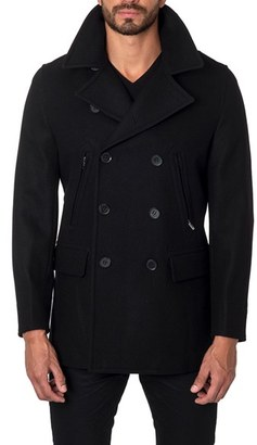 Men's Jared Lang Wool Blend Double Breasted Peacoat $499 thestylecure.com
