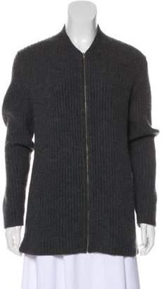 TSE Cashmere Zip-Up Sweater Grey Cashmere Zip-Up Sweater