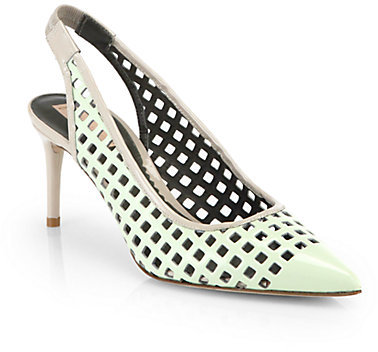 Reed Krakoff Bionic Academy Patent Leather Slingback Pumps