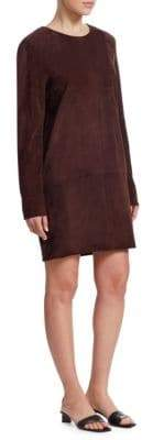 The Row Rani Suede Shift Dress