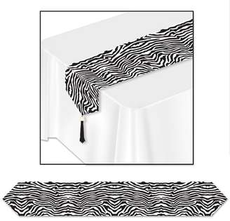 The Beistle Company Printed Zebra Print Table Runner