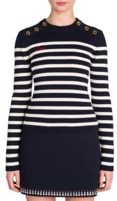Miu Miu Striped Virgin Wool Sweater