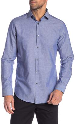 Theory Dover Super Chambray Slim Fit Shirt
