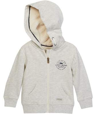 Lucky Brand Fleece Lined Full Zip Hoodie (Toddler Boys)