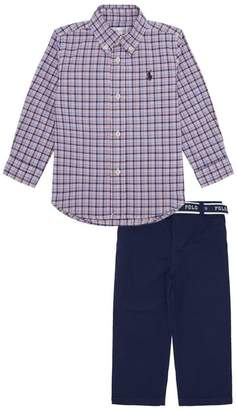 Polo Ralph Lauren Check Shirt and Chino Trousers Set