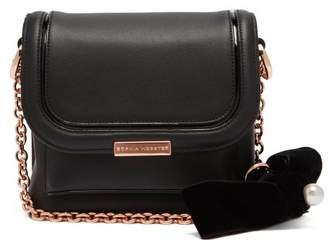 Sophia Webster Claudie Bow Embellished Leather Cross Body Bag - Womens - Black