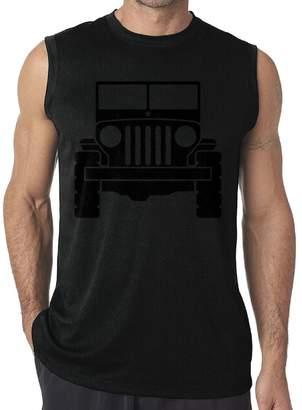 6b04cdcb9b6da Riokk Az Jeep 1 Casual Sleeveless Tanks Tops T-Shirt Fit Mens