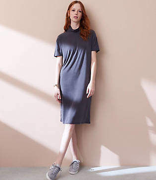 Lou & Grey Fluid Turtleneck Dress