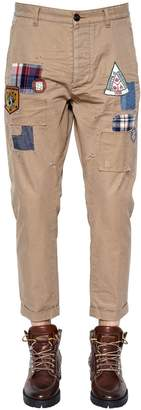 DSQUARED2 17cm Hockney Patches Twill Chino Pants