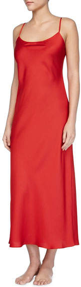 Dynasty Solid Long Gown, Red