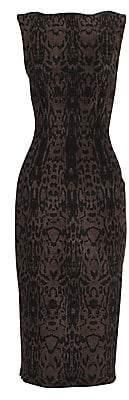 Alaia Women's Animal-Print Sheath Dress