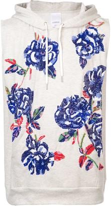 Ashish rose sequin sleeveless hoodie