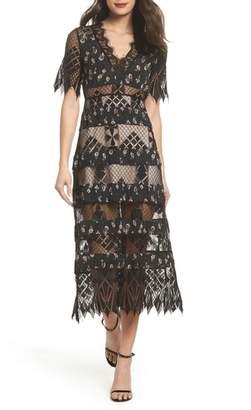 Foxiedox Sweetwater Stripe Midi Dress