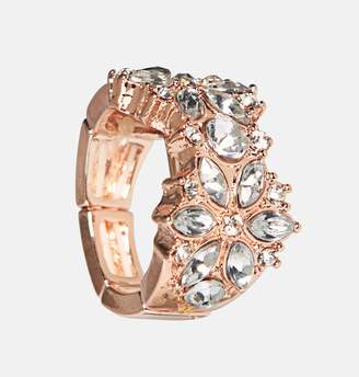 Avenue Double Stone Flower Stretch Ring